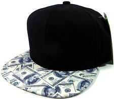 STRAPBACK BLACK MONEY HUNDRED DOLLAR BILLS BENJAMINS CASH $ SNAPBACK HAT CAP NEW