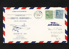 Airport Dedication Crete Nebraska 1941 Prexie Pair ONLY 600  Z32