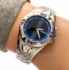 RELIC ZR55046 30m Animated Vertical Blue Bars Woman's Working Watch 60212