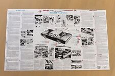 "1964 1965 Lincoln Convertible Top Trouble Shooting Poster 37"" wide"
