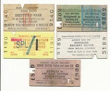PRESERVED RAILWAY TICKETS 1978 to 2011 x SIX