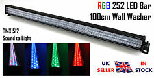 Rgb 252 Led Bar 100cm 1m Pared Arandela Efecto Dmx Sonido Dj Stage Blanca Diseño Moderno Batton