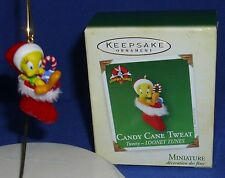 Hallmark Looney Tunes Miniature Ornament Candy Cane Tweat 2005 Tweety Bird NIB