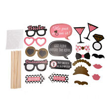 Photo Booth Props Hen Mustache on Stick Romantic Wedding Xmas Party Tools 20x SK