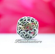 "NEW! AUTHENTIC PANDORA BELIEVE DISNEY CHARM WITH 14K GOLD SCRIPT ""BELIEVE"""