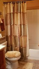 Shower Curtain, Unique, Color Block, Golds, Browns/ Bronze, Standard, EXCELL