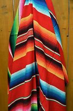 Mexican Blanket Serape Acrylic Red *PREMIUM* 84x64 Yoga Handwoven Tribal Throw