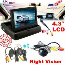 Wireless Car Reverse Rear View Backup Night Vision Camera Kit  TFT LCD Monitor