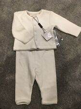 NEW Burberry Children's White Velour Tracksuit 3 Months