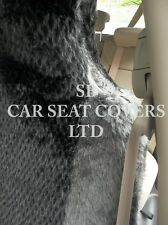 TO FIT A TOYOTA STARLET CAR, SEAT COVERS, GREY DIAMOND FAUX FUR 2 FRONTS