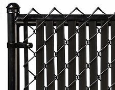 Chain Link Black Double Wall Tube™ Privacy Slat For 8ft High Fence Bottom Lock