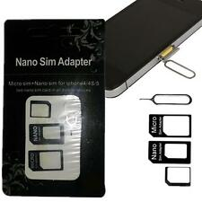 SIM Card to Micro Standard Adapter Adaptor Converter Set For Iphone 4S 5 5S BUC