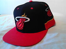 Miami Heat NBA Team Short Mitchell and Ness Snapback Hat Cap Black