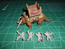 25mm Dragontooth Fantasy D&D Triceratops w/Tower and Lizardman Crew