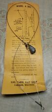Vintage Whirl A Rig on card Fishing Line lure set up Cameron WI Bait Shop