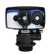 """Fleck 5600 Style Metered Water Softener Control Valve With 1"""" SS Bypass"""