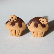 Sweet Cookies Chocolate Funky Food Muffin Cake Earrings Handmade Girl Gift Idea