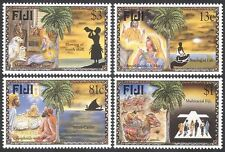 Fiji 1996 Christmas/Greetings/Nativity/Stable/Cattle/Magi/Palm Trees 4v (n40424)