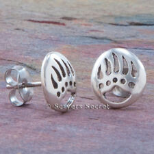 925 sterling silver BEAR PAW CLAW PRINT EARRINGS Native HypoAllergenic Post Stud