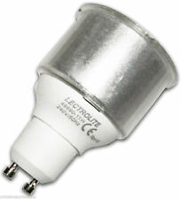10 x GU10 11w Warm White CFL Light Bulbs to replace 50w Halogens A Rated Rating