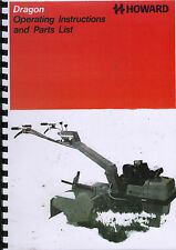Howard Dragon Garden Rotavator Operating Instructions and Parts Manual