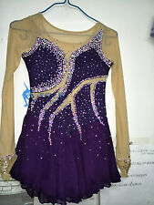 purple figure skating dresses women competition skating dress custom ice clothes
