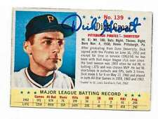 DICK GROAT 1963 POST AUTOGRAPHED SIGNED # 139 PIRATES