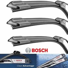 3 Bosch Clear Advantage Wiper Blade Size 22 /22/ H300 Rear -  Front and Rear