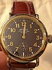 $850 Gold Swiss Shinola Runwell Watch Unisex $375 Genuine Alligator Last Minute!