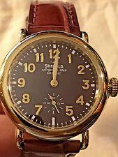 $850 Gold Swiss Shinola Runwell Watch Unisex $375 Genuine Alligator Last Minute!