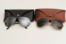LOT of 2 Rayban Aviator Sunglasses 58-14, With Signs of Use, Cases Included