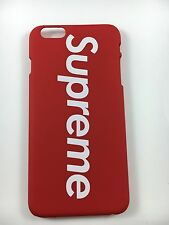 Apple IPhone 6 Plus Red Supreme Back Hard Case USA SELLER!! FREE Supreme Sticker