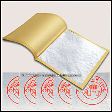 SILVER LEAF - 50 LEAVES - EDIBLE - GOLD - 999/1000 PURE - 24 CARATS - FOOD GRADE