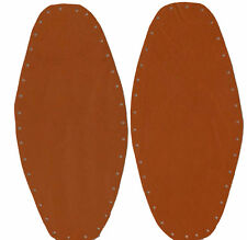 TOP QUALITY - D/ORANGE - SHAPED - LEATHER - ELBOW PATCHES