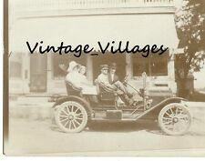 Vintage Ford Model T With Family Picture Photo