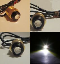 "WHITE LED BOAT PLUG LIGHT GARBOARD BRASS DRAIN 1/2"" NPT MARINE UNDERWATER FISH"