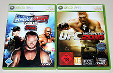 2 XBOX 360 SPIELE BUNDLE UFC UNDISPUTED 2010 & SMACKDOWN VS RAW 2008 - WRESTLING