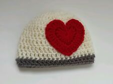 NEW Newborn Baby Heart Hat Crochet Valentine Photography infant photo prop Gift