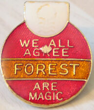 NOTTINGHAM FOREST Vintage badge Maker COFFER Northampton Brooch pin 26mm x 31mm