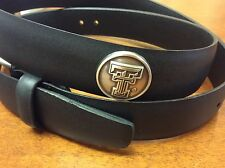 Black Genuine Leather Belt with Texas Tech Red Raiders Conchos  46 LE
