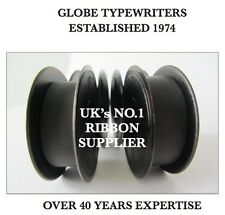 2 x 'IMPERIAL 201' *BLACK* TOP QUALITY *10 METRE* TYPEWRITER RIBBONS + EYELETS