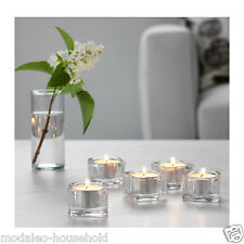 IKEA GLASIG 5 Pack Tea light holder Clear Glass Christmas Decor Candle Ligh-B789