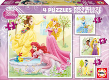 PUZZLE PROGRESIVO 12+16+20+25 PRINCESAS DISNEY EDUCA 15289