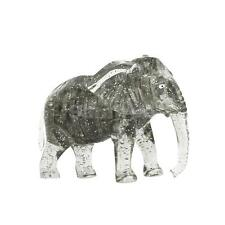 Novelty Elephant 3D Crystal Puzzle Jigsaw Brain Teaser Challenge Toy Gifts Gray
