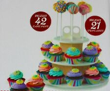 Sweet Creations Cupcake and Cake Pop 3-Tier Tower Display Stand Wedding Birthday