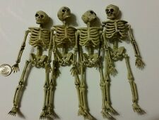 4 Dollhouse miniature skeletons  1/12  Halloween decoration Bb