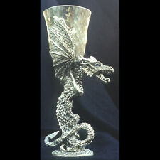 Cobalt Dragon Pewter Goblet, Limited Edition - Smooth Finish