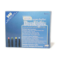Light String Strand Teeny Twinkle Multi Function - 140 Ct Color Bulbs Green Cord