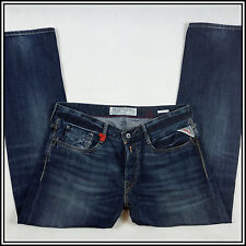 NEW REPLAY NEWBILL MA955 MEN'S JEANS 34/32 COMFORT FIT STRAIGHT LEG MEDIUM DARK