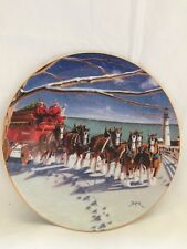 Tom Jester Lighting The Way Home Christmas Budweiser Decorative Plate